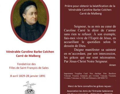 Neuvaine à Mme Carré pour obtenir une guérison