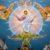 Dieu s'élève parmi les ovations, le Seigneur, aux éclats du cor.
